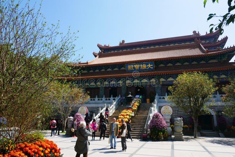 Monasterio del Po Lin imagenes de archivo