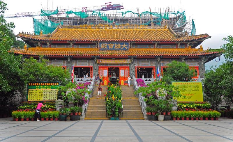 Monasterio del Po lin en Hong-Kong fotos de archivo libres de regalías