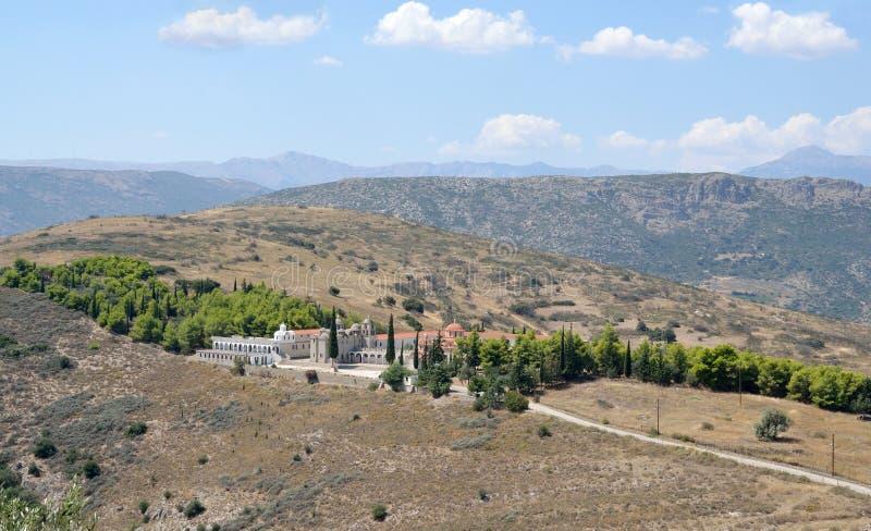 Monasterio del puerto deportivo de Agia en Argos Peloponeso, Grecia imagen de archivo libre de regalías
