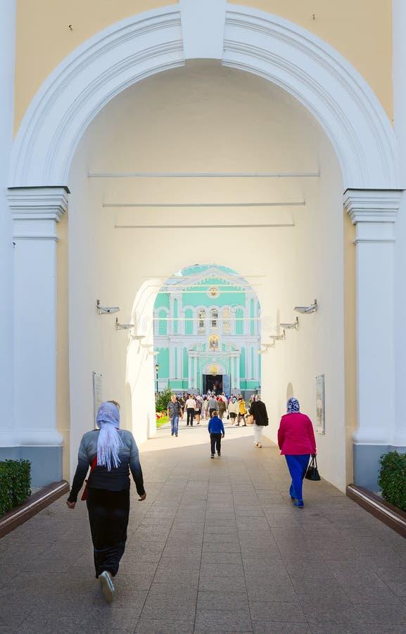 Monasterio del serafín-Diveevo de la trinidad santa, Diveevo, Rusia foto de archivo