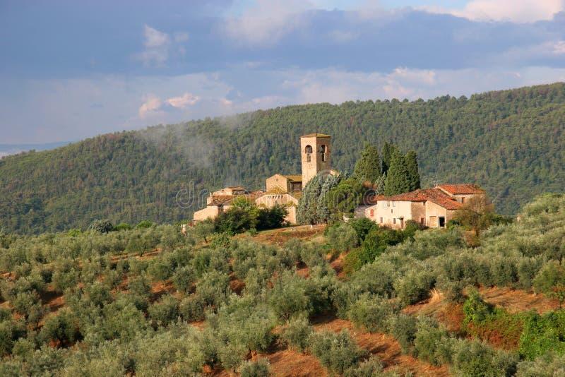 Monasterio en Artimino imagen de archivo