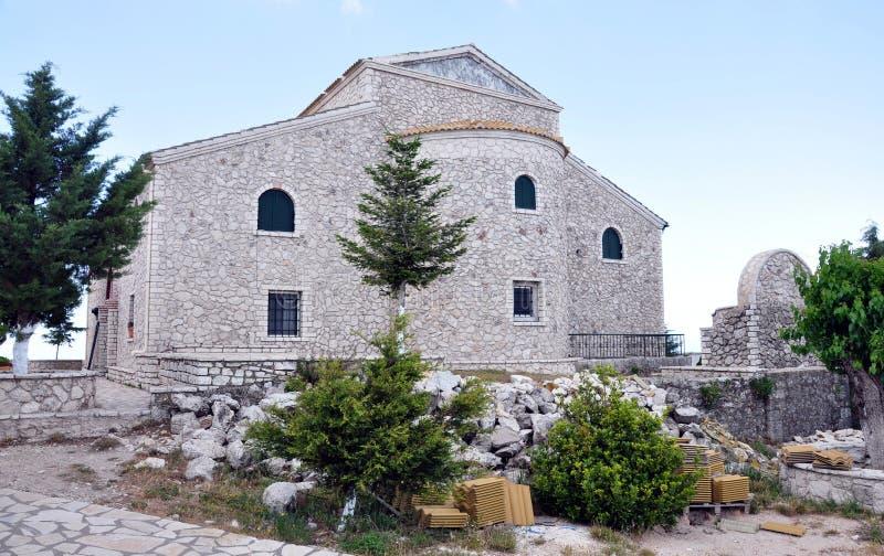 Monasterio en Grecia, Corfú fotografía de archivo