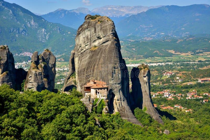 Monasterio en Meteora, Grecia foto de archivo libre de regalías