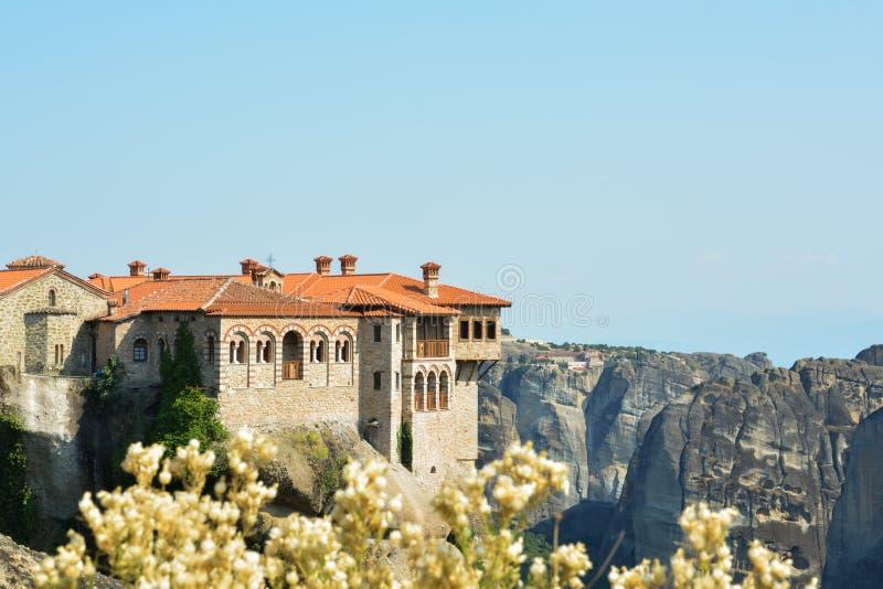 Monasterio en Meteora, Grecia imagen de archivo libre de regalías