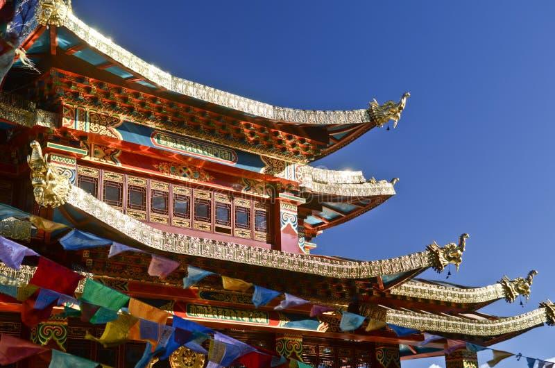 Monasterio en Shangrila, Yunnan, China fotografía de archivo libre de regalías