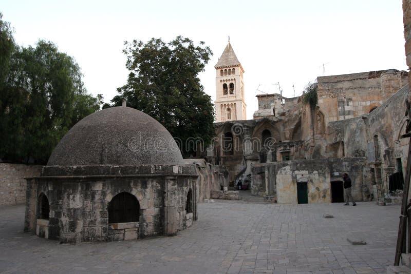 Monasterio etíope, iglesia de Santo Sepulcro, Jerusalén imágenes de archivo libres de regalías