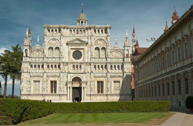 Monasterio famoso de Pavía, Italia foto de archivo libre de regalías