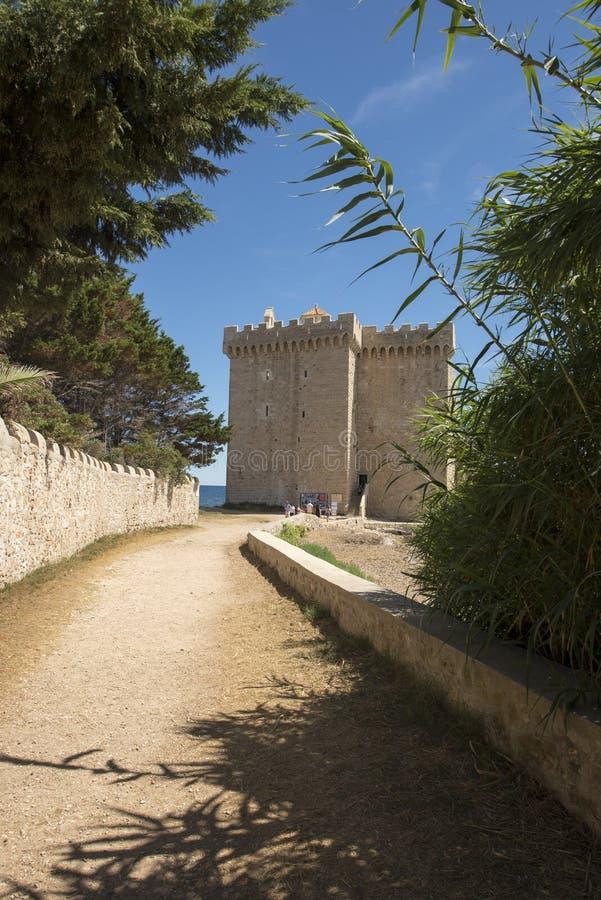 Monasterio fortificado Honorat del santo, Francia imágenes de archivo libres de regalías