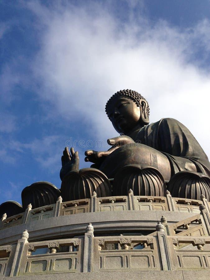 Monasterio gigante de Buddha/Po Lin fotografía de archivo