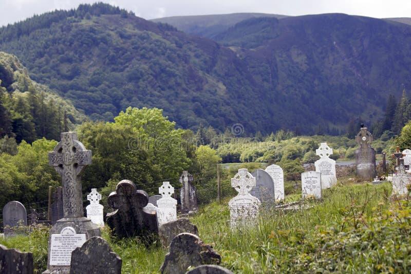 Monasterio Glendalough en Irlanda imagen de archivo