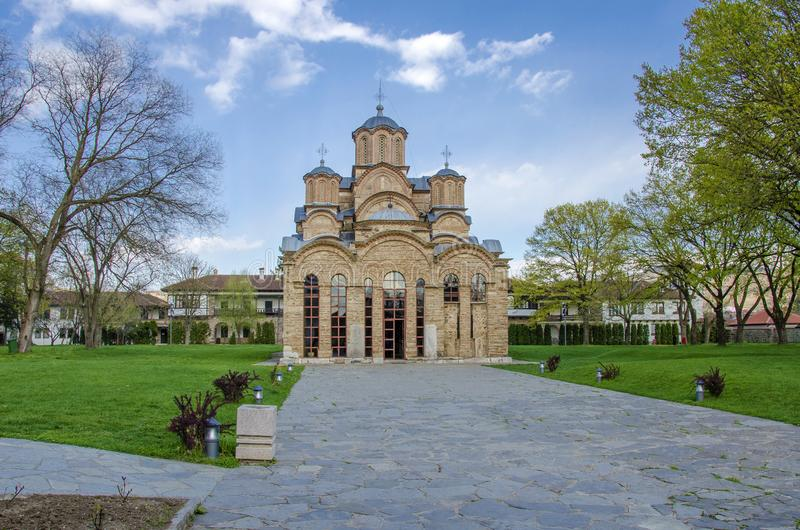 Monasterio Kosovo - patrimonio mundial de Gracanica de la UNESCO fotos de archivo libres de regalías