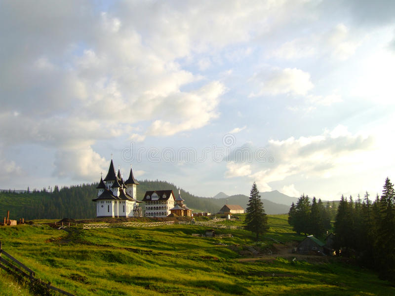 Monasterio Maramures de Prislop imagen de archivo libre de regalías