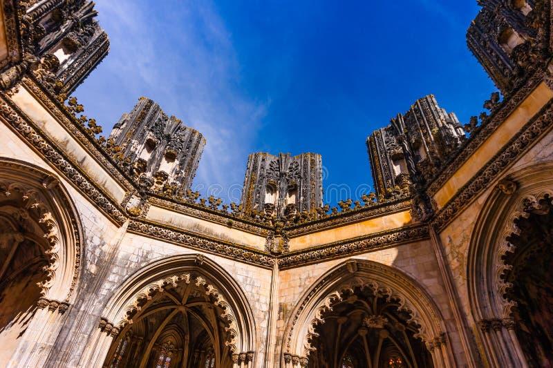 Monasterio medieval de Batalha en Batalha, Portugal, arquitectura gótica fotos de archivo libres de regalías