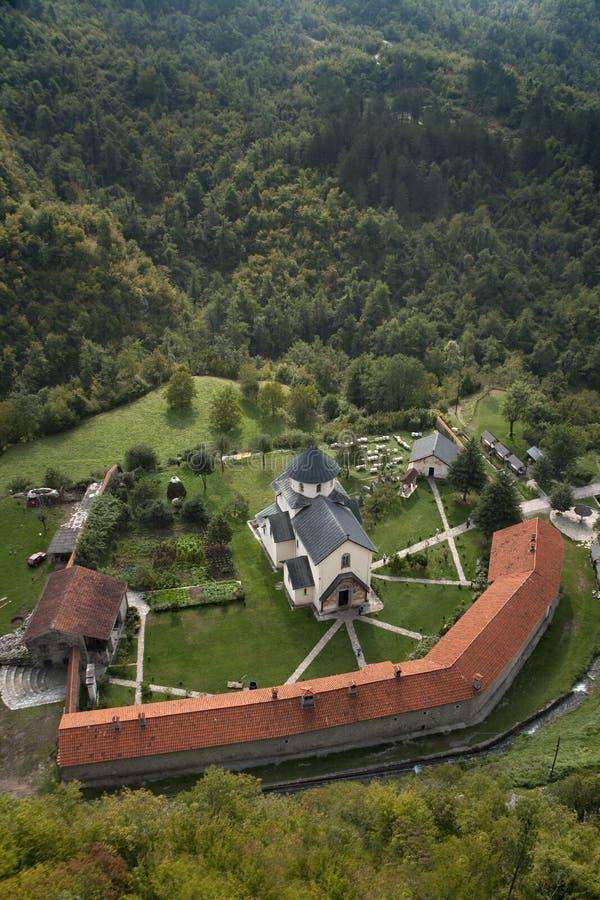 Monasterio Moraca, Montenegro fotos de archivo