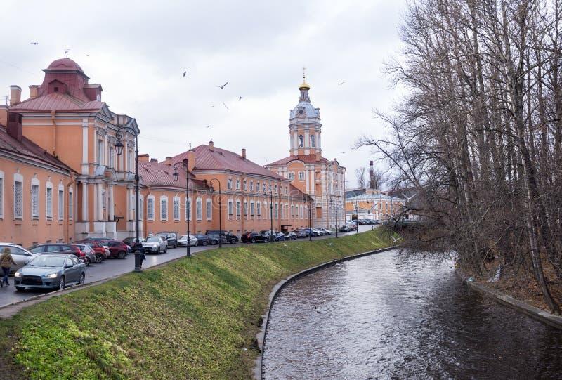 Monasterio ortodoxo en St Petersburg, Alexander Nevsky Lavra imagenes de archivo
