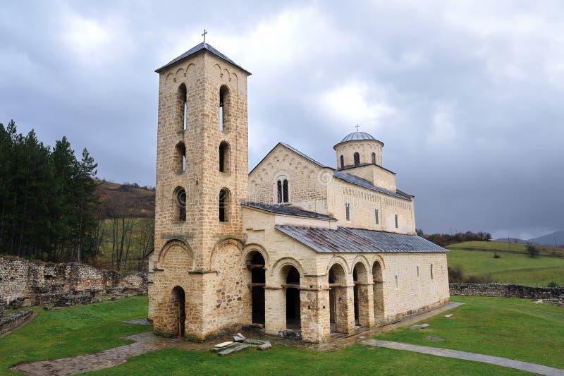 Monasterio ortodoxo servio Sopocani imágenes de archivo libres de regalías