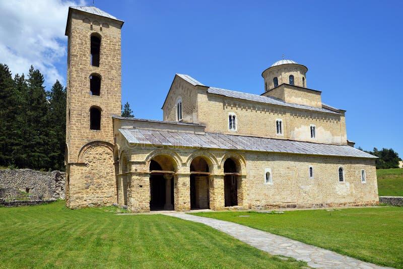Monasterio ortodoxo servio Sopocani fotografía de archivo