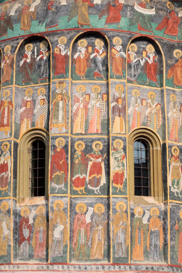 Monasterio pintado foto de archivo