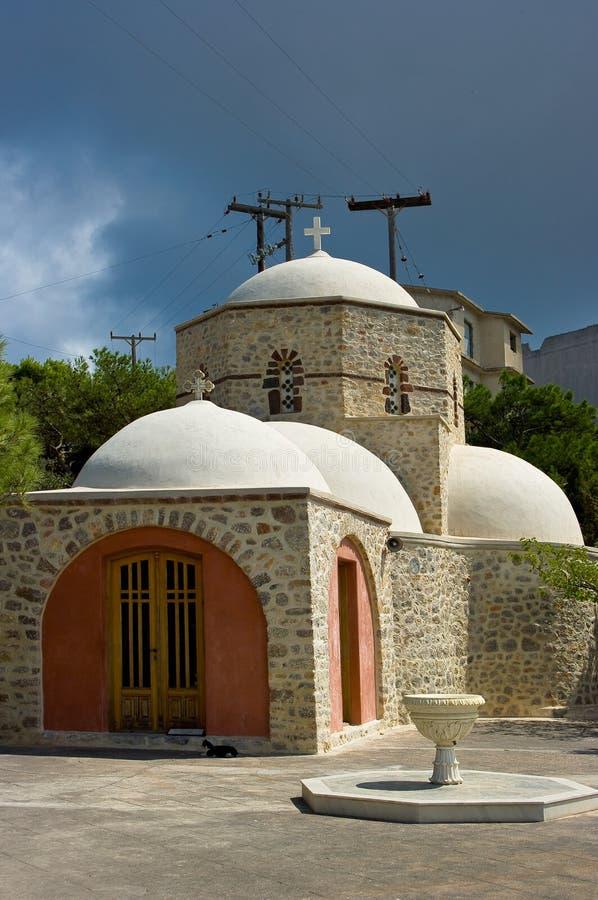 Monasterio Profitis Ilias fotos de archivo libres de regalías