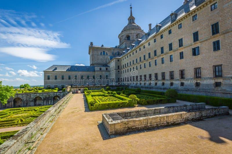 Monasterio real de San Lorenzo de El Escorial cerca de Madrid, España fotos de archivo libres de regalías