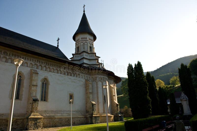 Monasterio rumano antiguo ortodoxo aislado fotografía de archivo libre de regalías