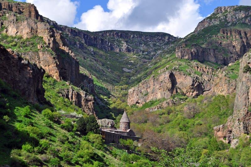Monasterio sagrado de Geghard en Armenia fotografía de archivo libre de regalías