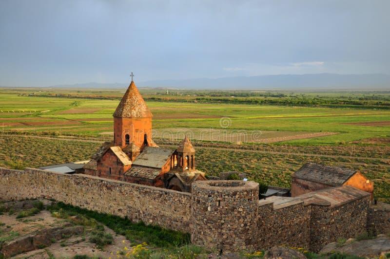 Monasterio sagrado de Khor Virap fotografía de archivo libre de regalías