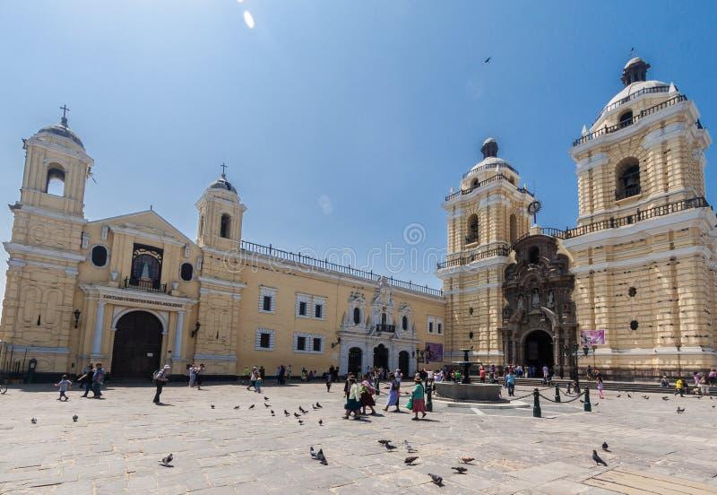 Monasterio San Francisco Lima Peru imagen de archivo libre de regalías