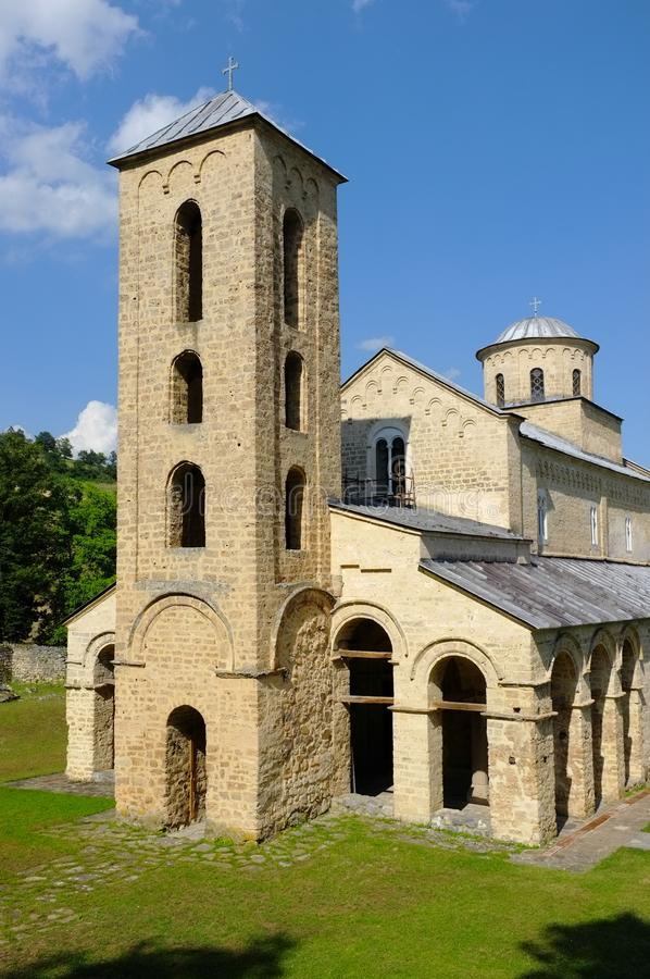 Monasterio Sopocani, Serbia foto de archivo
