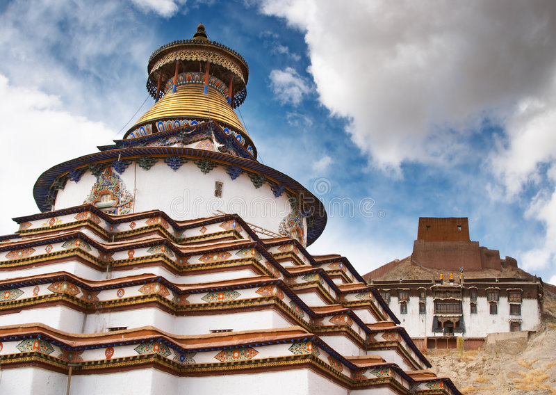 Monasterio tibetano foto de archivo libre de regalías