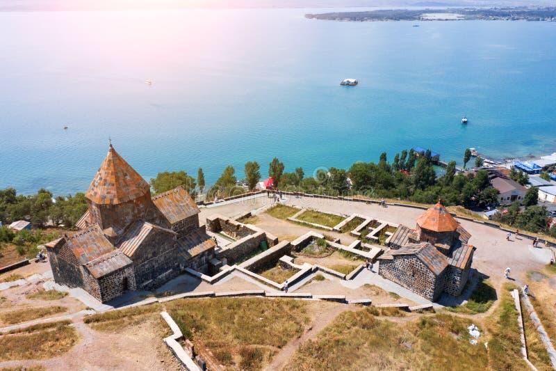 Monasterio viejo de Sevanavank imagen de archivo