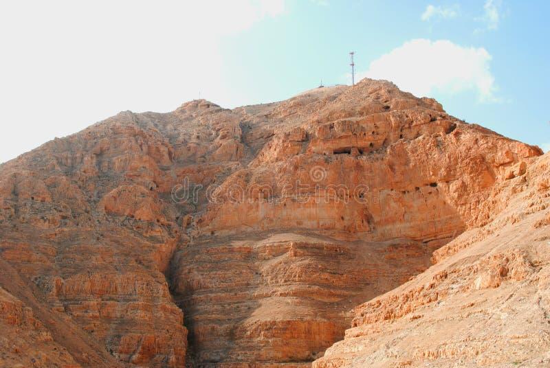 Monasterio viejo en Jericó imagen de archivo