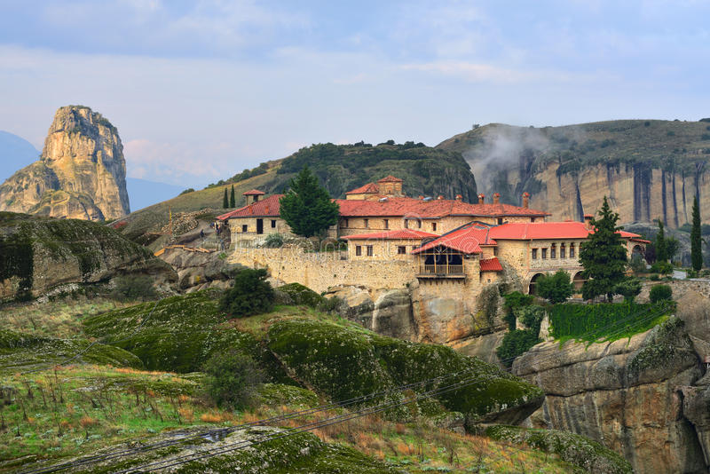 Monasterios de Meteora Grecia imagenes de archivo