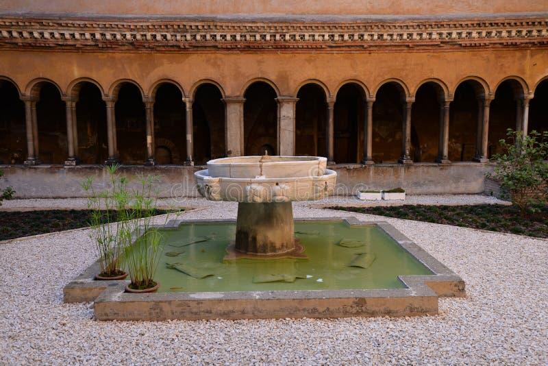 Monastero Agostiniano Quattro Coronati, Roma, Italia immagini stock libere da diritti