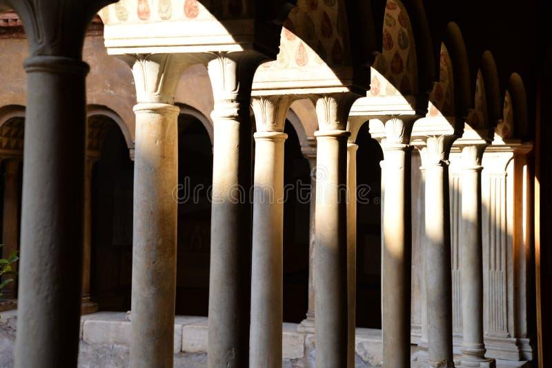 Monastero Agostiniano Quattro Coronati, Rzym, Włochy fotografia royalty free
