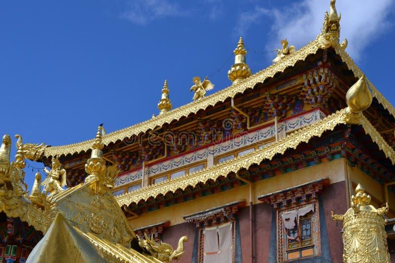 Monastero buddista tibetano di Songzanlin, La di Shangri, Xianggelila, provincia di Yunnan, Cina immagine stock libera da diritti
