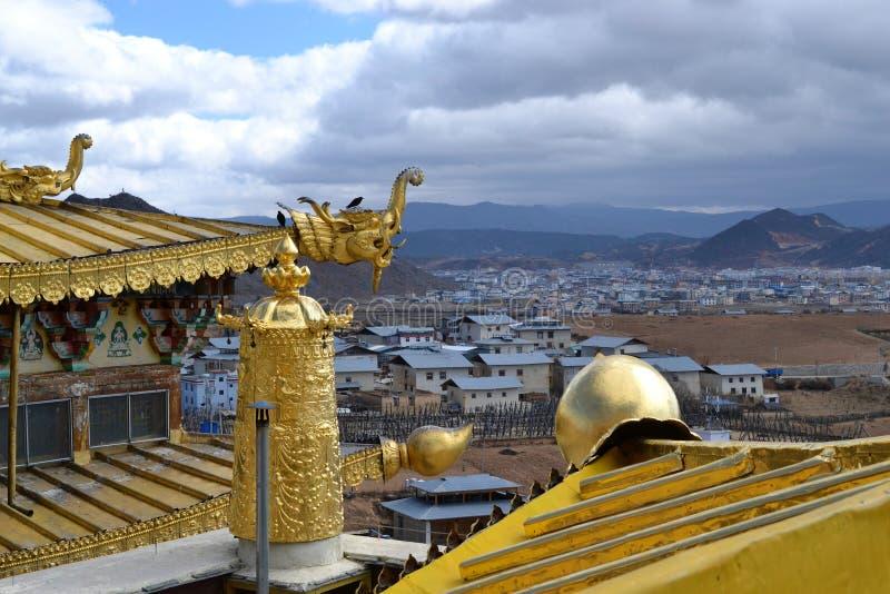 Monastero buddista tibetano di Songzanlin, La di Shangri, Xianggelila, provincia di Yunnan, Cina immagini stock