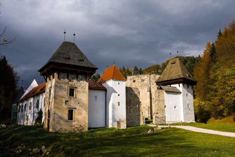Monastero Carthusian Sloven di kartuzija di Zicka (charterhouse di zice) fotografia stock libera da diritti