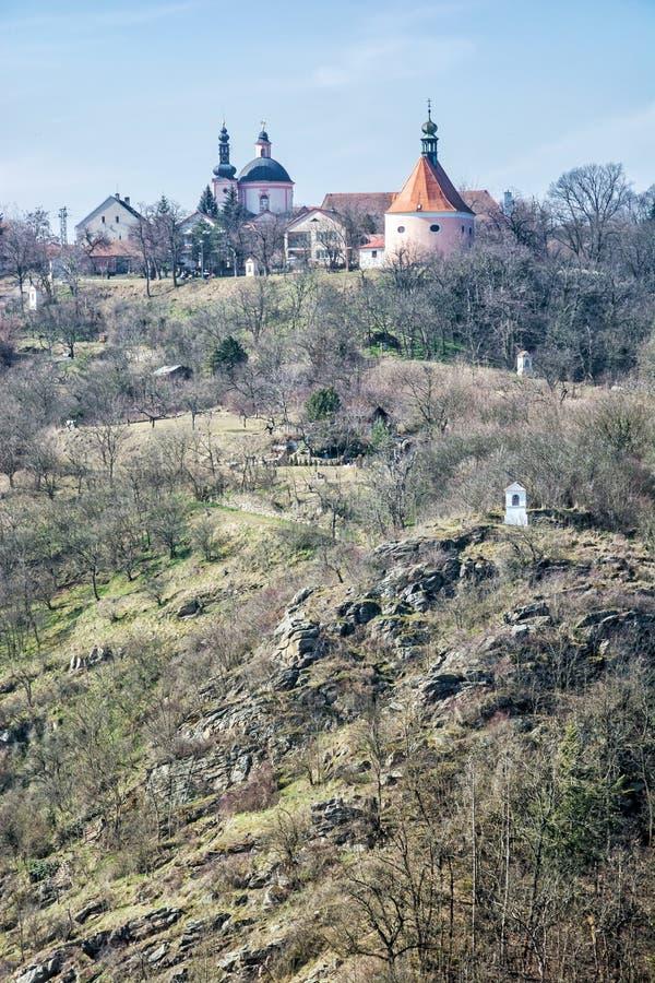 Monastero, chiesa della chiesa della st Hippolytus e di St Anthony, Znoj fotografie stock libere da diritti