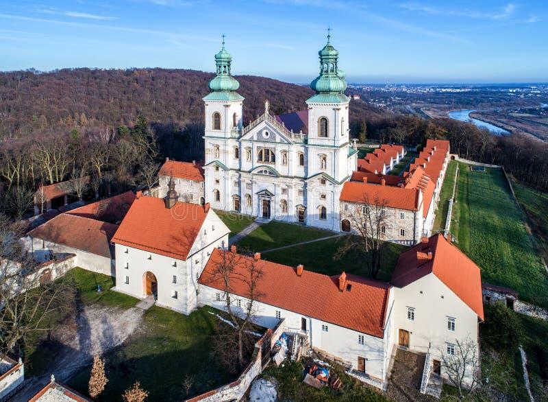 Monastero dei fratelli del cameldolite in Bielany, Cracovia, Polonia fotografie stock libere da diritti