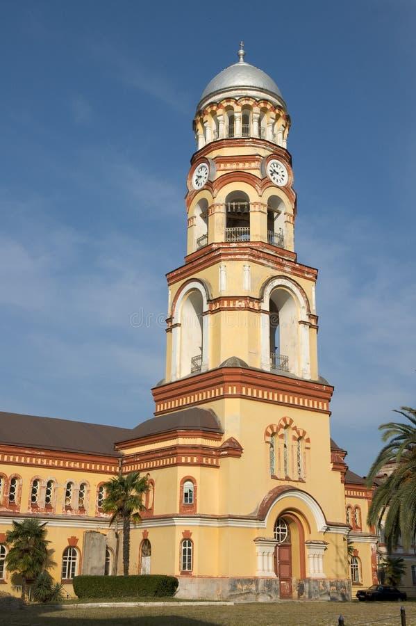 monastero del afon dell'Abhasia nuovo fotografia stock libera da diritti