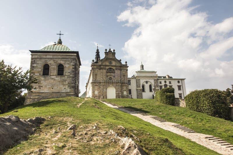 Monastero del benedettino e basilica, incrocio santo, Swietokrzyskie m. immagine stock libera da diritti