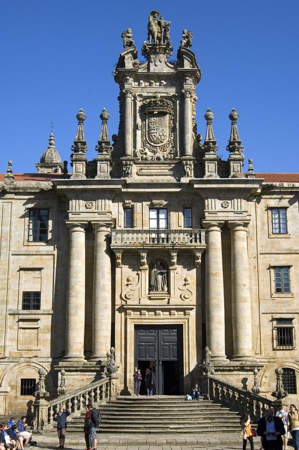 Monastero del benedettino in Santiago de Compostela immagine stock libera da diritti