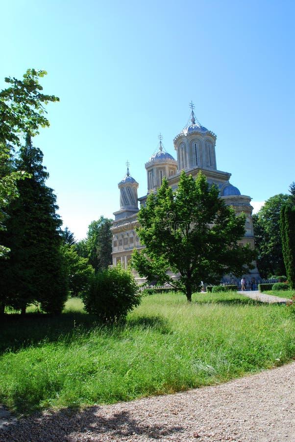 Monastero del Curtea de Arges fotografia stock