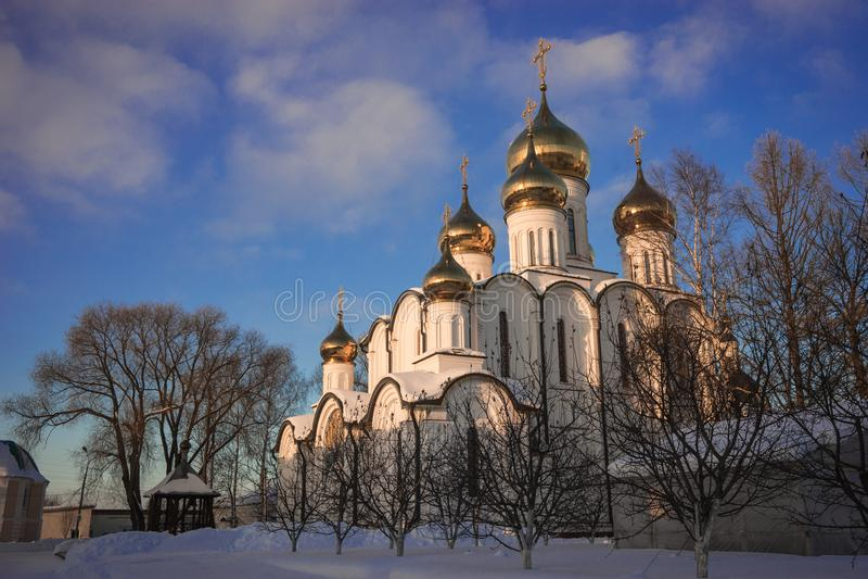 Monastero del ` s delle donne di Svyato Nikolsky Pereslavl in Pereslavl Zalessk immagine stock libera da diritti