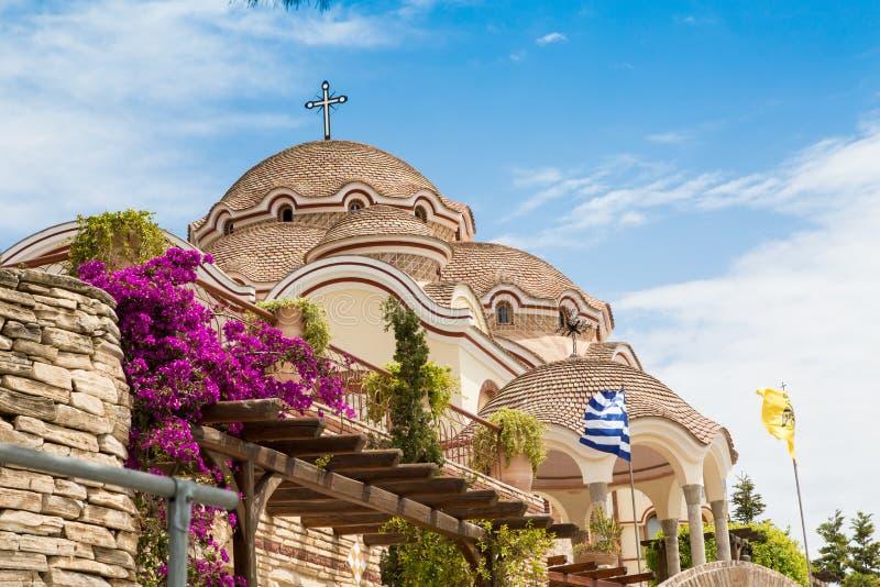 Monastero dell'arcangelo Michael, isola di Thassos, Grecia fotografia stock libera da diritti