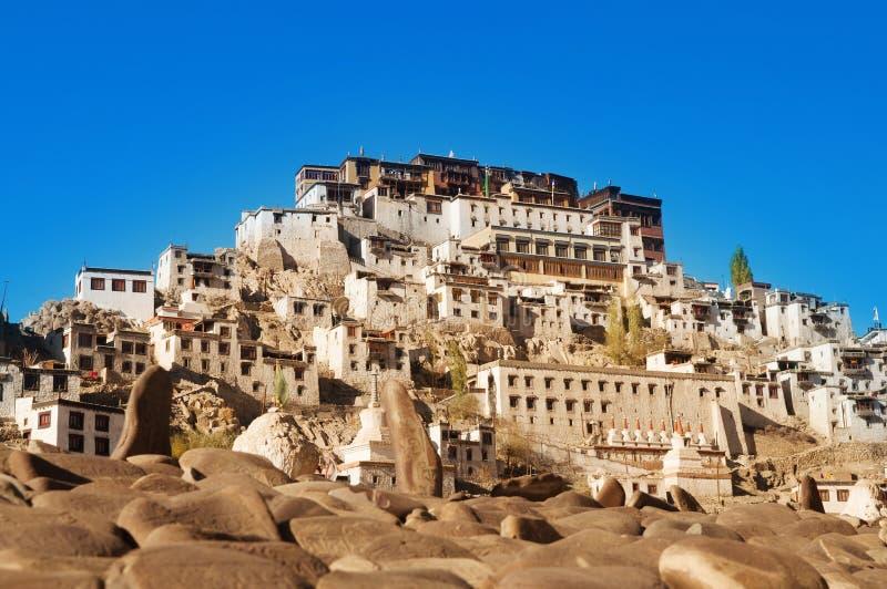 Monastero dell'India Ladakh Leh Thiksey fotografie stock libere da diritti