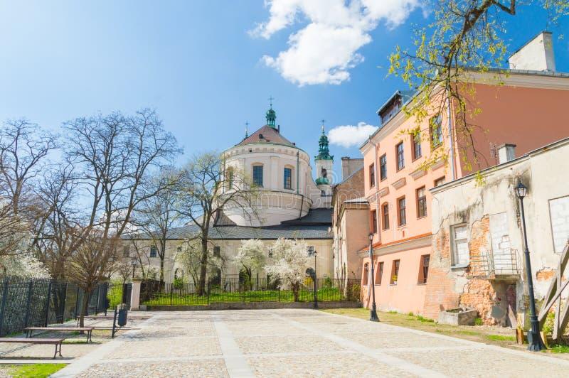 Monastero dell'ordine domenicano in vecchia città di Lublino immagini stock