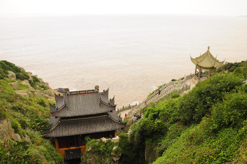 Monastero della caverna di Fanyin immagini stock libere da diritti