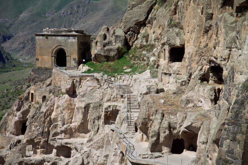 Monastero della caverna di Vardzia, Georgia immagini stock libere da diritti